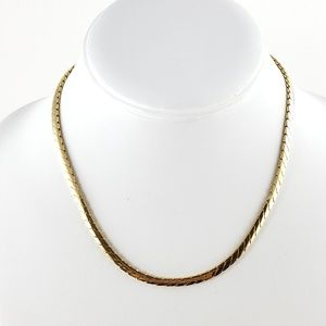 Merlite Necklace Smooth Gold Tone Chain